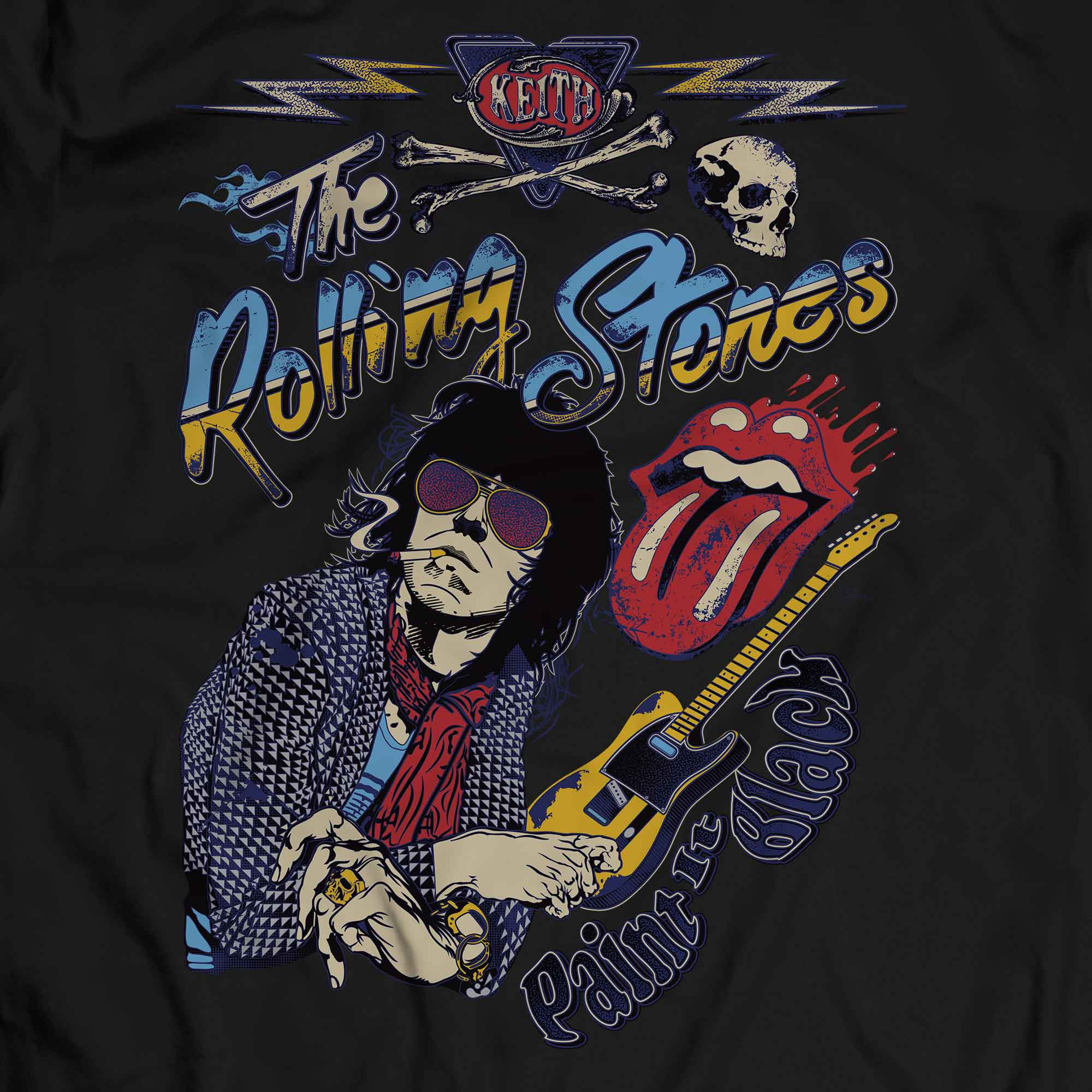 Camiseta Paint It Black - The Rolling Stones - Masculino
