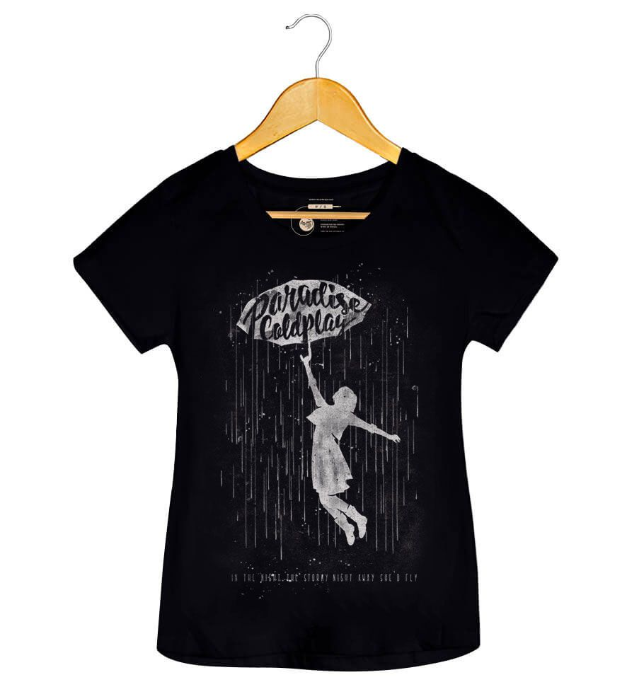 Camiseta Paradise - Coldplay - Feminino