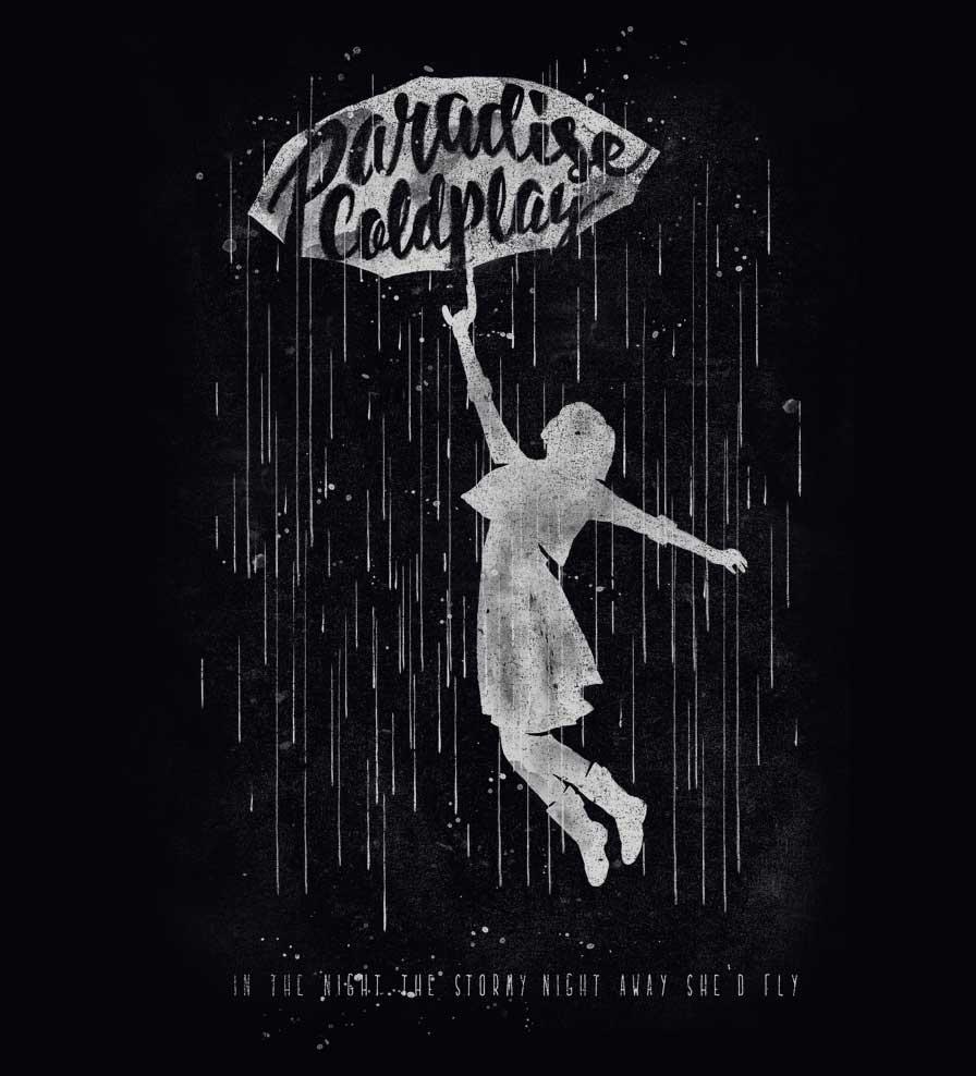 Camiseta - Paradise - Coldplay - Feminino