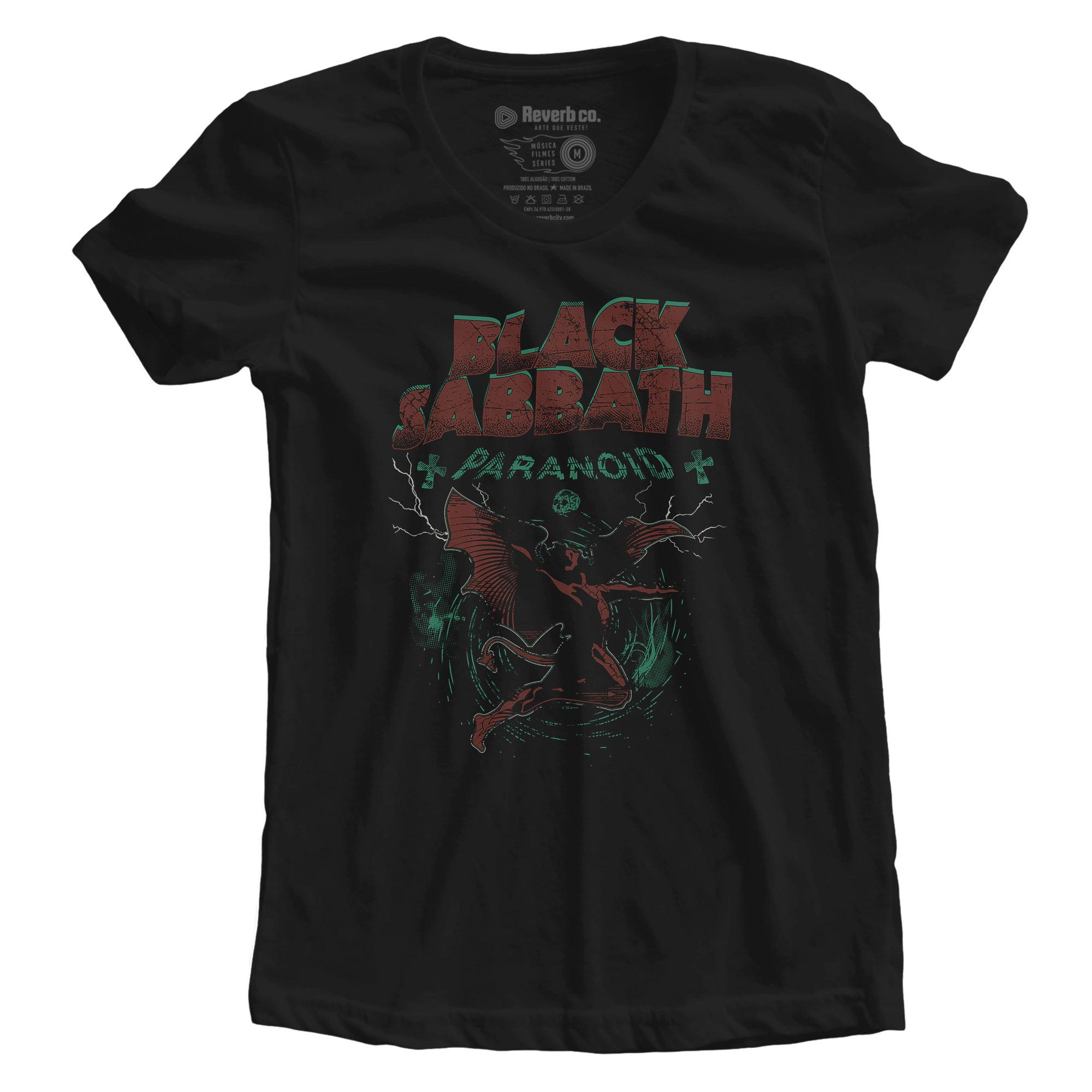 Camiseta Paranoid - Black Sabbath - Feminino