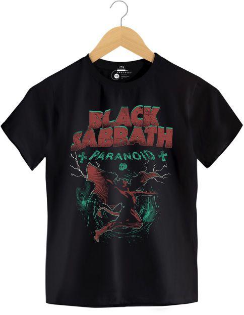 Camiseta Paranoid - Black Sabbath - Infantil