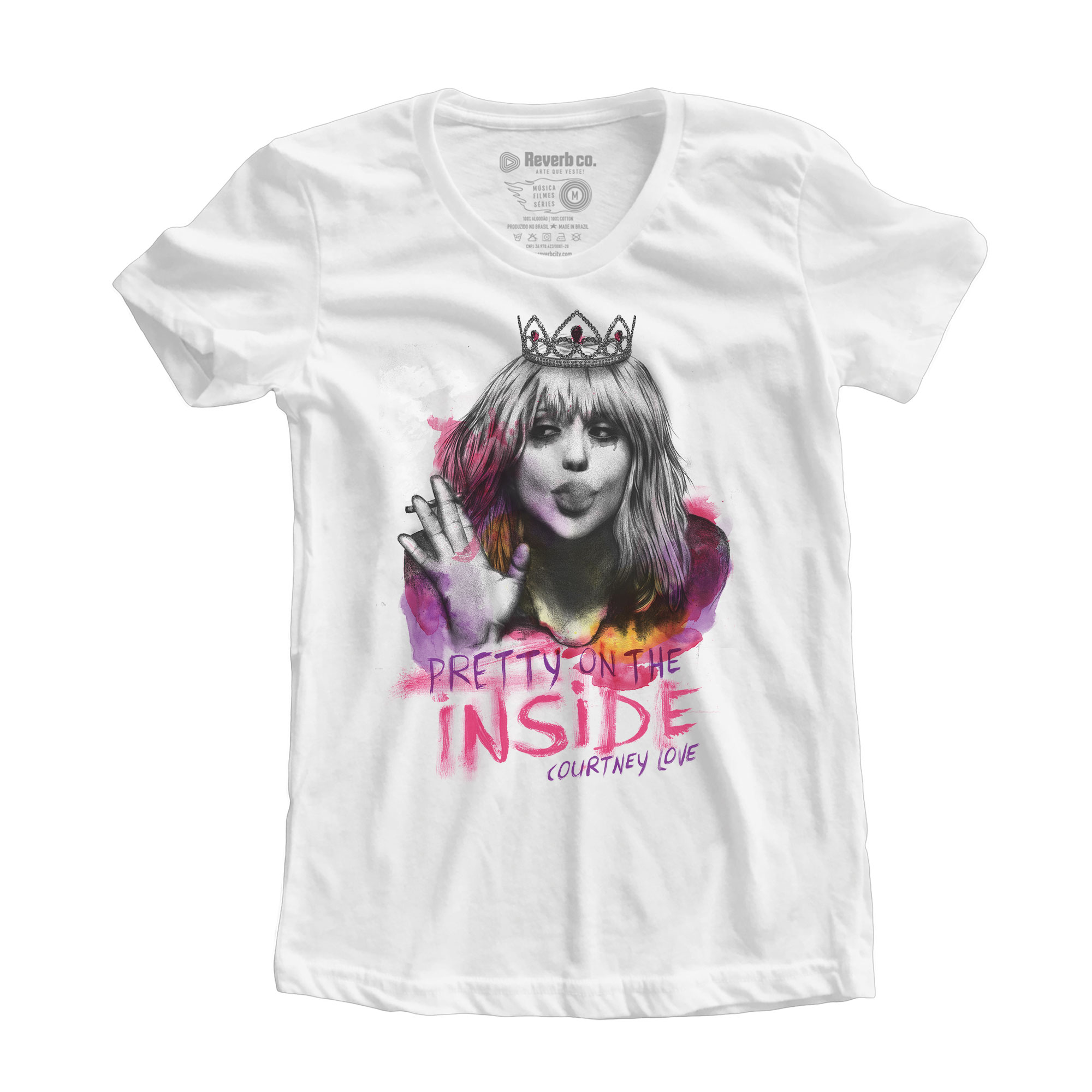 Camiseta Pretty On The Inside - Courtney Love - Feminino