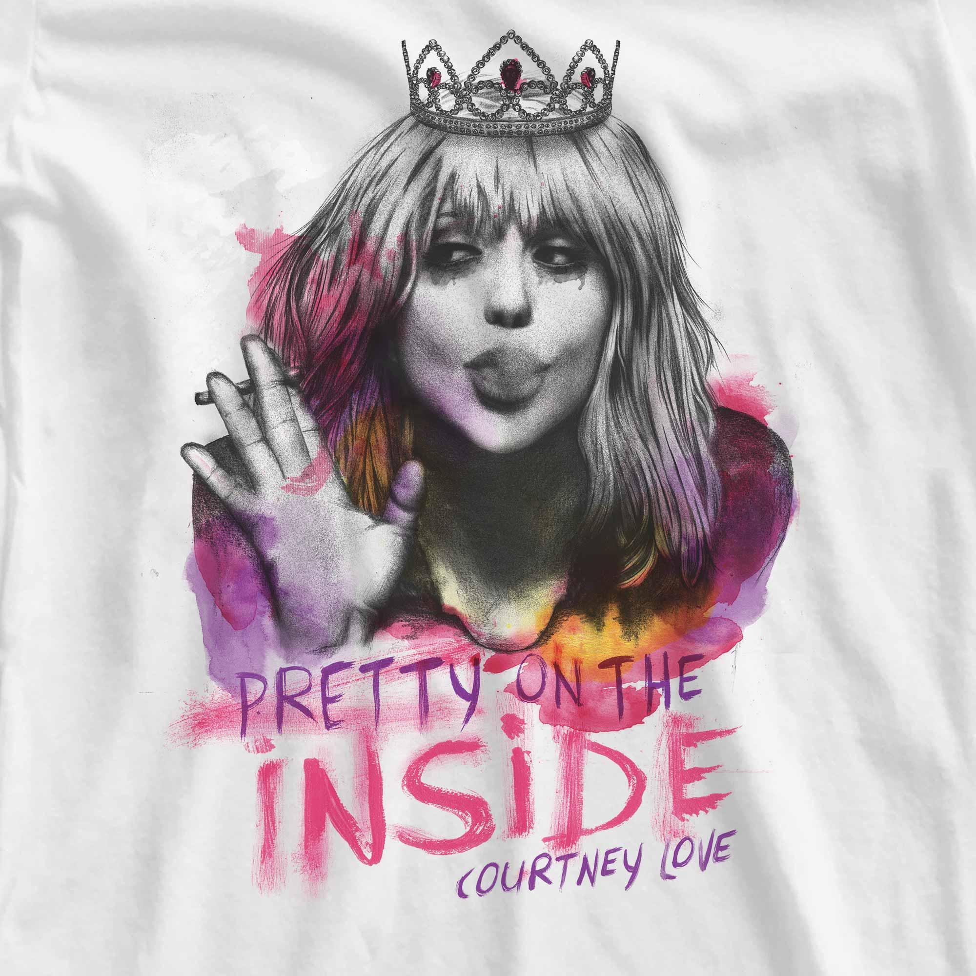 Camiseta Pretty On The Inside - Courtney Love - Feminino