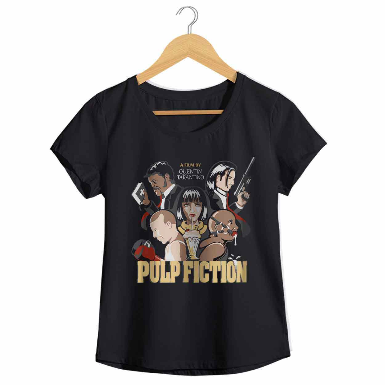 Camiseta Pulp Fiction - Quentin Tarantino - Feminino