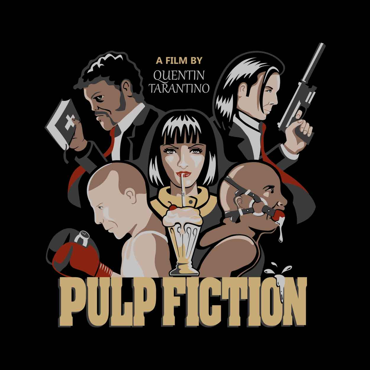 Camiseta Pulp Fiction - Quentin Tarantino - Feminino