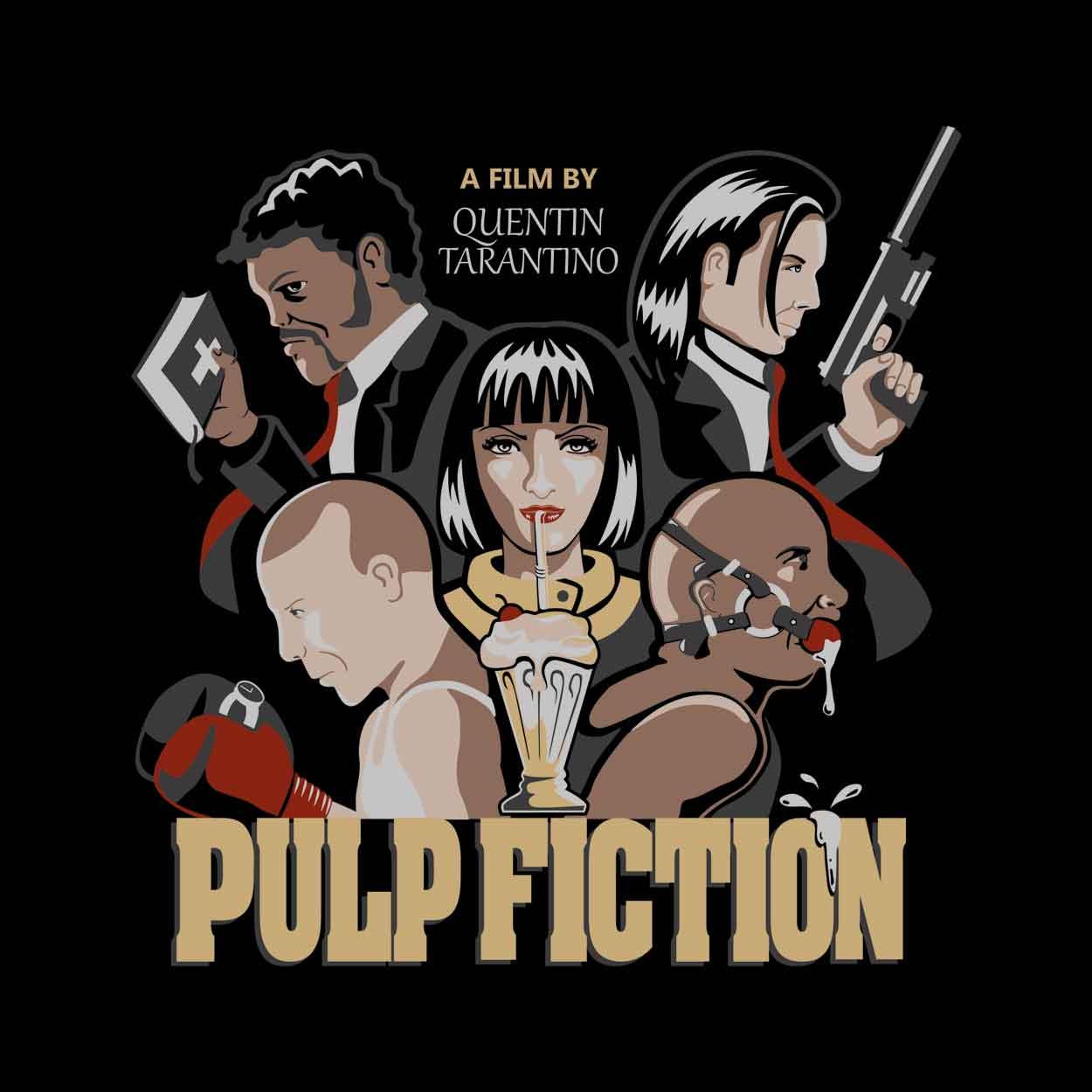 Camiseta Pulp Fiction - Quentin Tarantino - Masculino