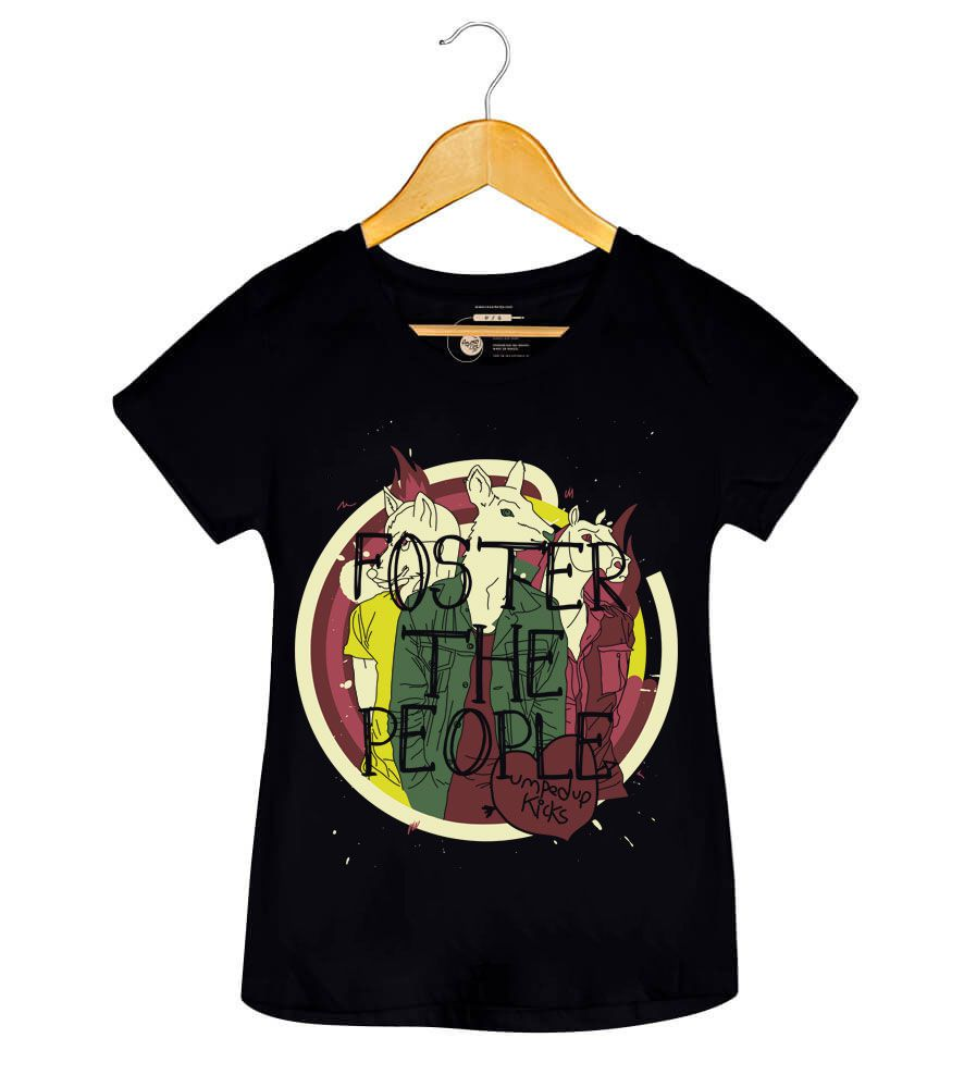 Camiseta Pumped Up Kicks - Foster The People - Feminino