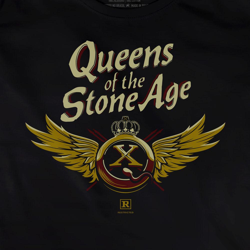 Camiseta QOTSA X Asas - Queens Of The Stone Age - Feminino