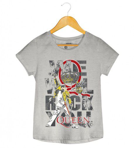 Camiseta - We Will Rock You - Queen - Feminino