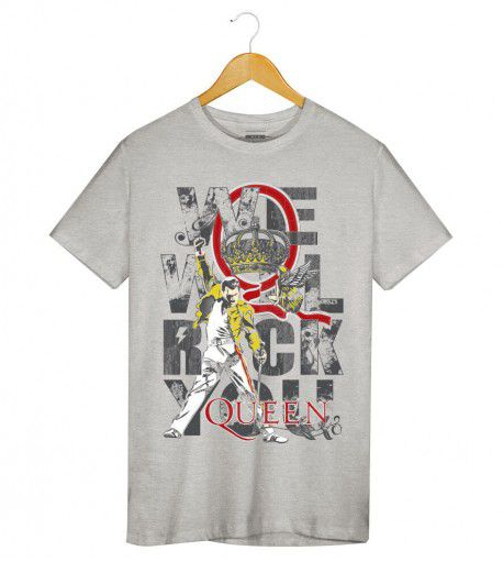 Camiseta - We Will Rock You - Queen -  Masculino