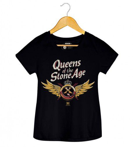 Camiseta QOTSA X Asas - Queens Of The Stone Age - Feminino