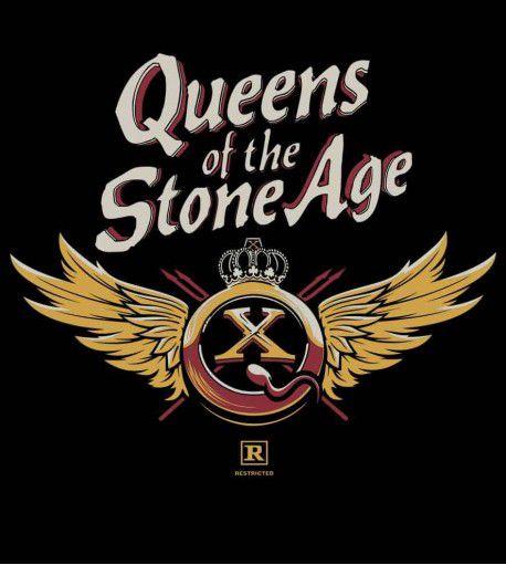 Camiseta Queens Of The Stone Age - QOTSA X Asas - Masculino