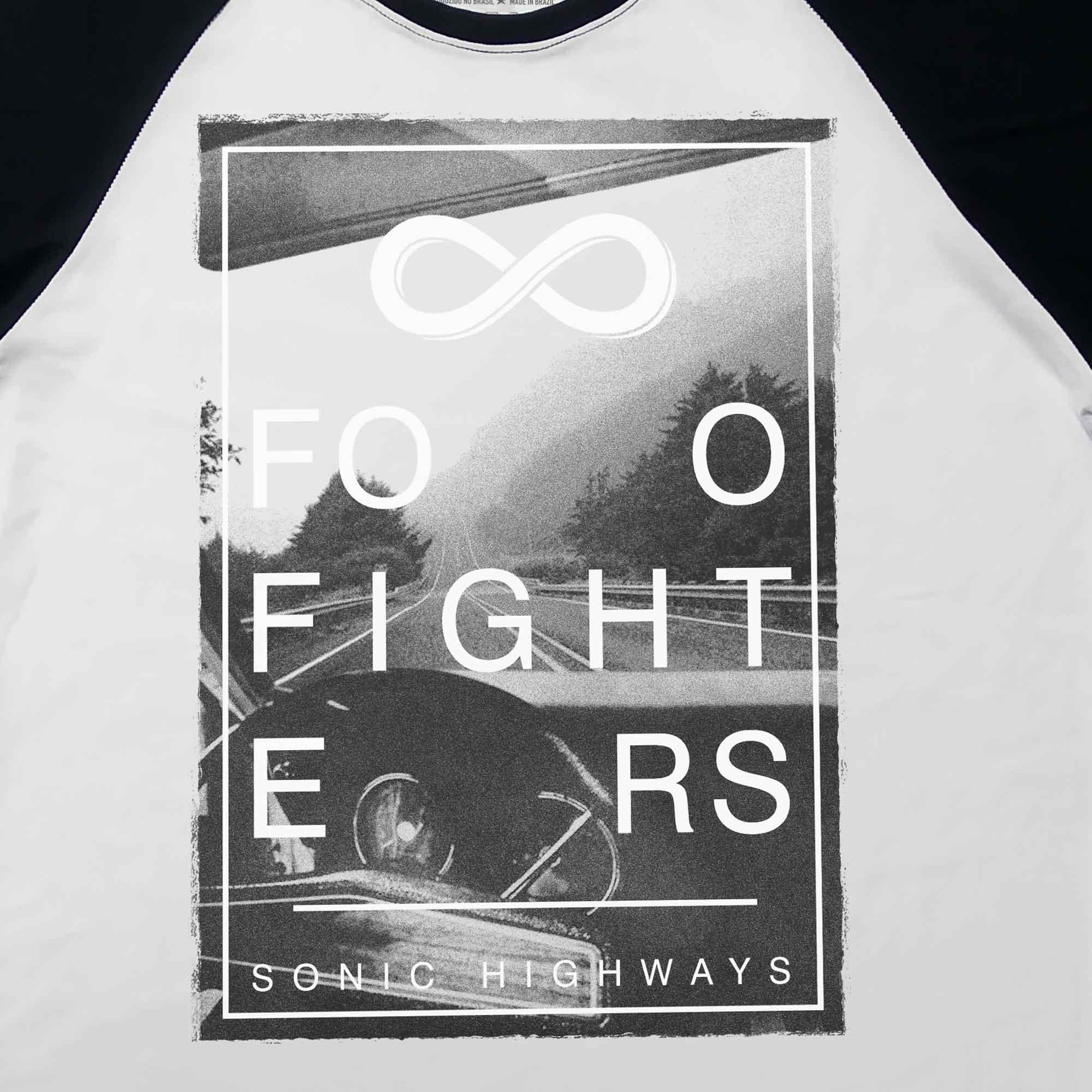 Camiseta Raglan Sonic Highways - Foo Fighters