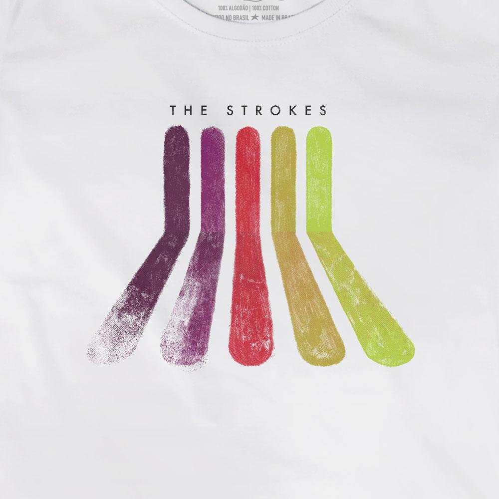 Camiseta Rainbow - The Strokes - Feminino