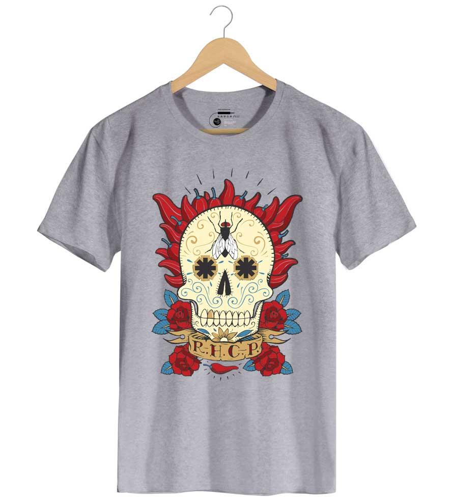Camiseta - Red Hot Chili Peppers - Caveira Mexicana - Masculino