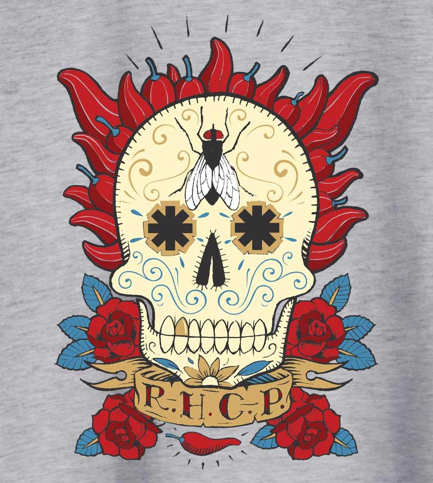 Camiseta Red Hot Chili Peppers - Caveira Mexicana - Masculino