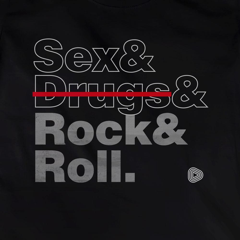 Camiseta Rock and Roll - Feminino