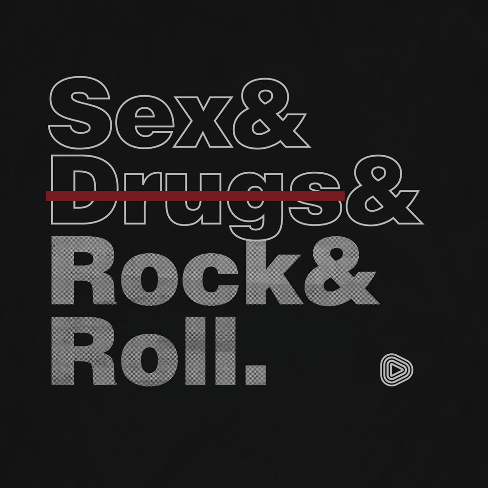 Camiseta Rock and Roll - Masculino