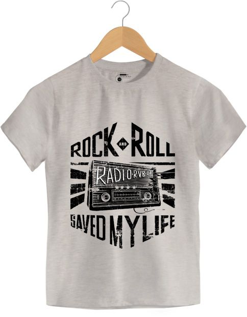 Camiseta - Rock And Roll Radio - Infantil