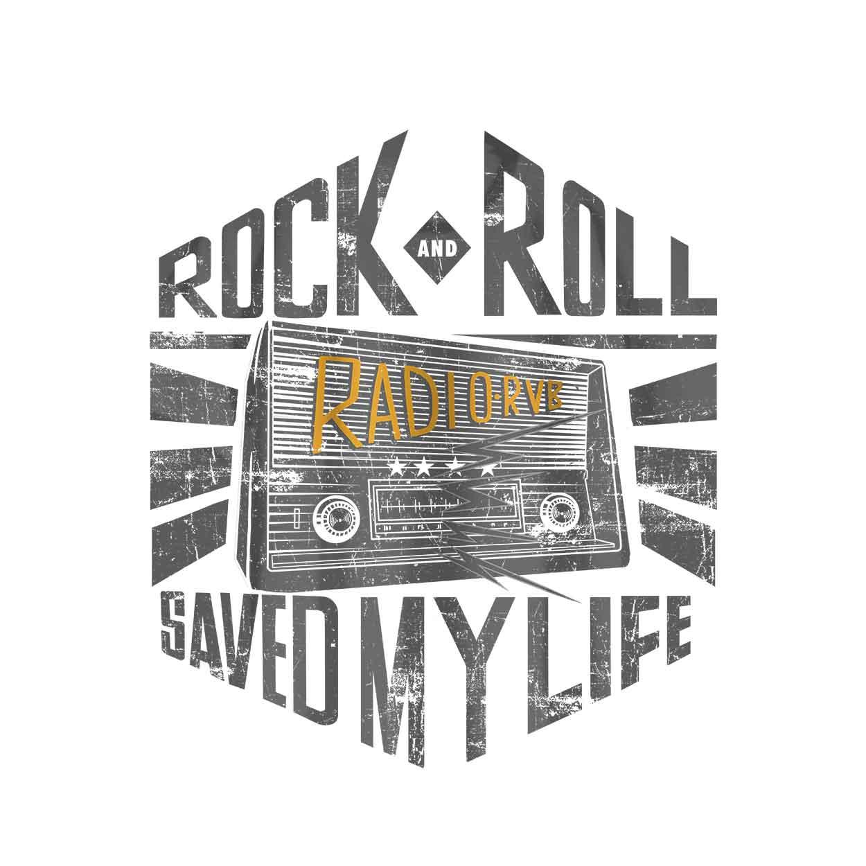 Camiseta - Rock And Roll Radio - Infantil