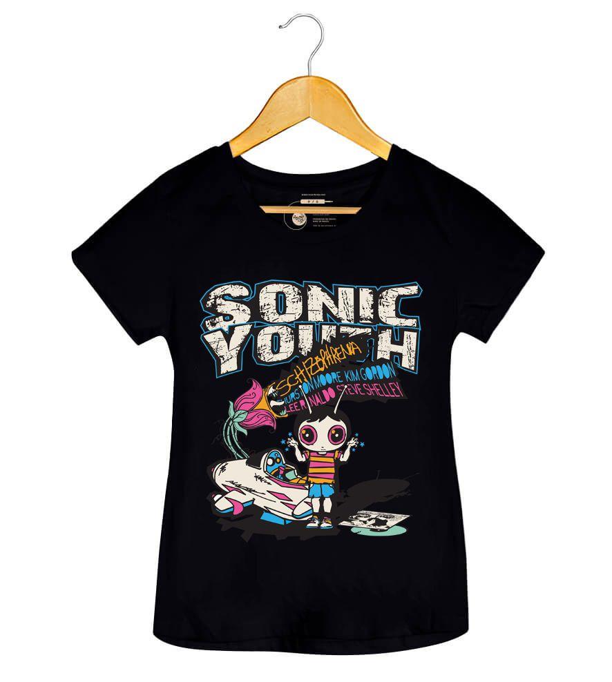 Camiseta - Schizophrenia - Sonic Youth - Feminino
