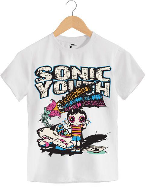 Camiseta - Schizophrenia - Sonic Youth - Infantil