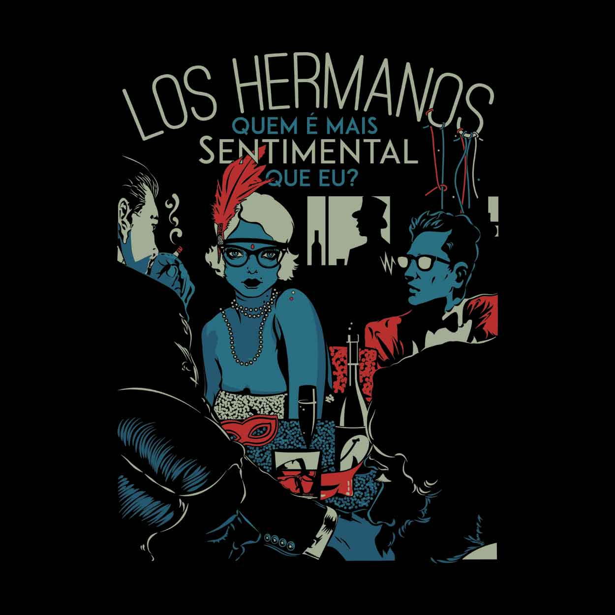 Camiseta - Sentimental - Los Hermanos - Feminino