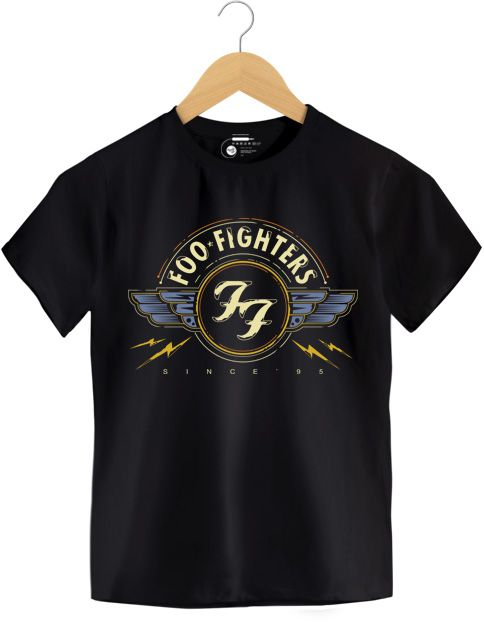 Camiseta - Since 5 - Foo Figthers - Infantil