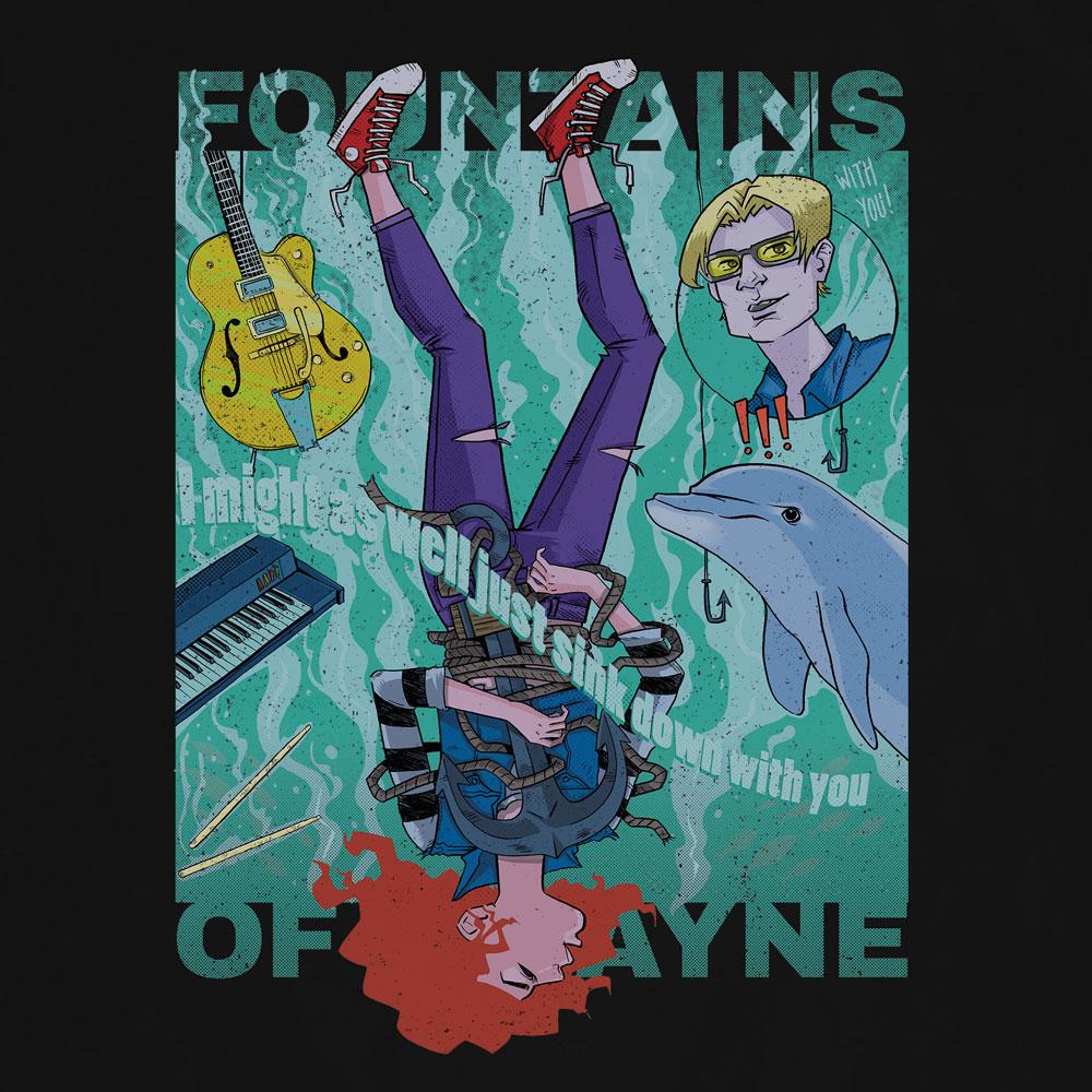 Camiseta Sink to the Bottom - Fountains of Wayne - Masculino