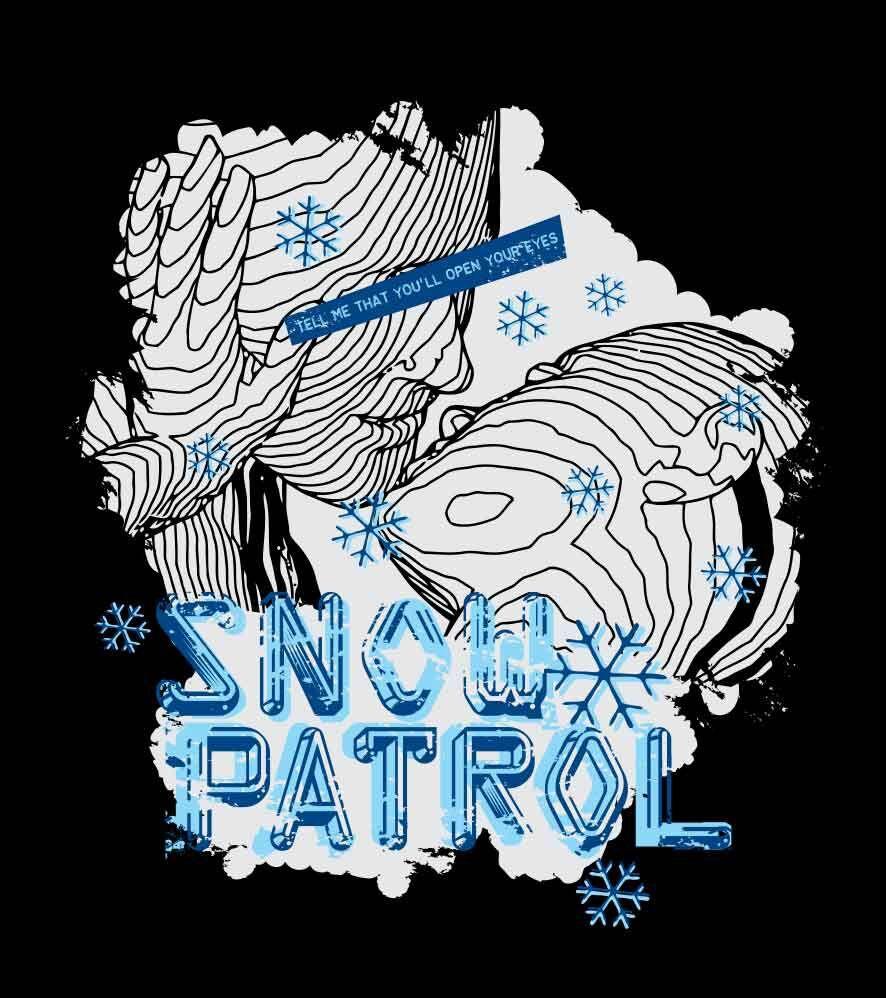 Camiseta Snow Patrol -  Masculino