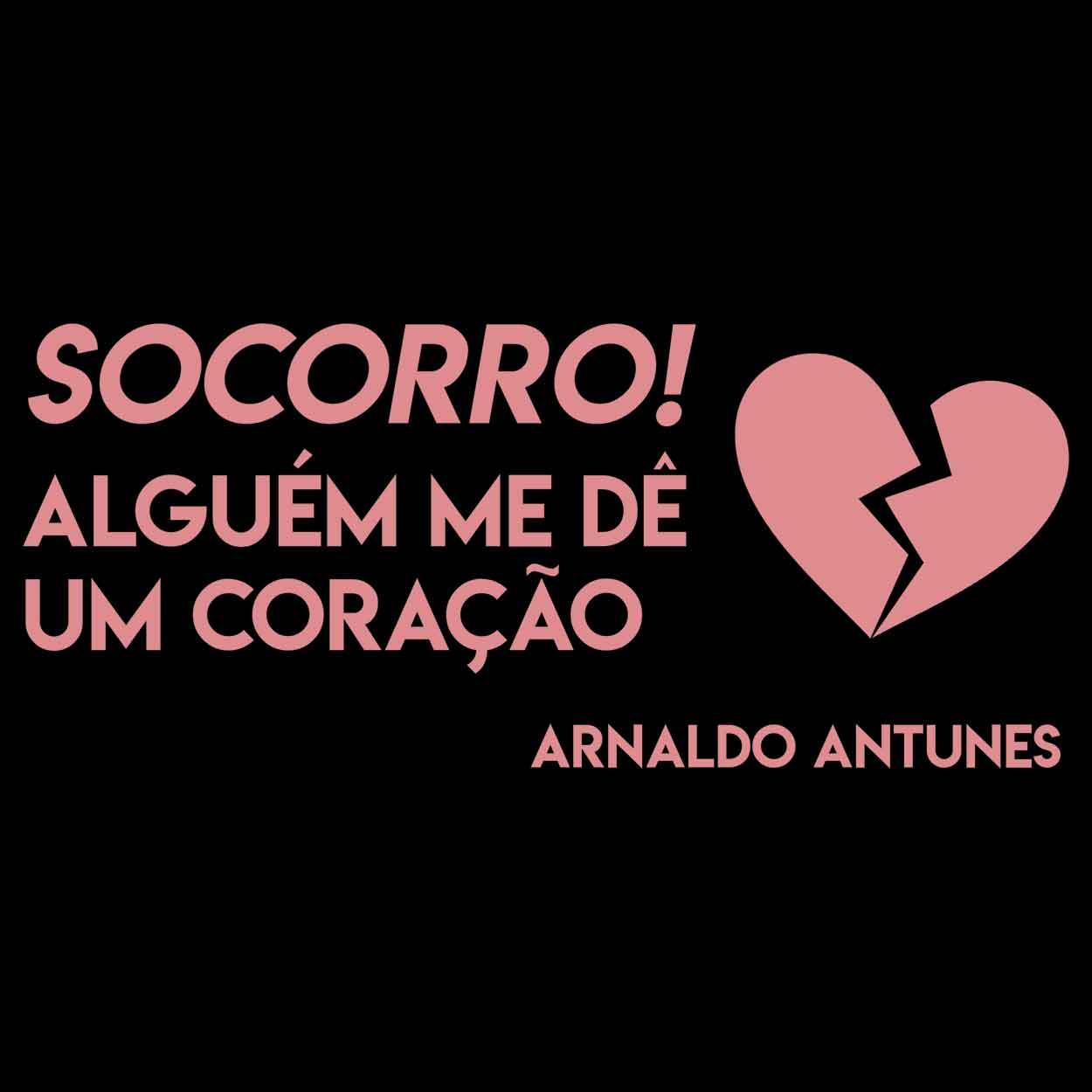 Camiseta - Socorro! - Arnaldo Antunes - Masculino