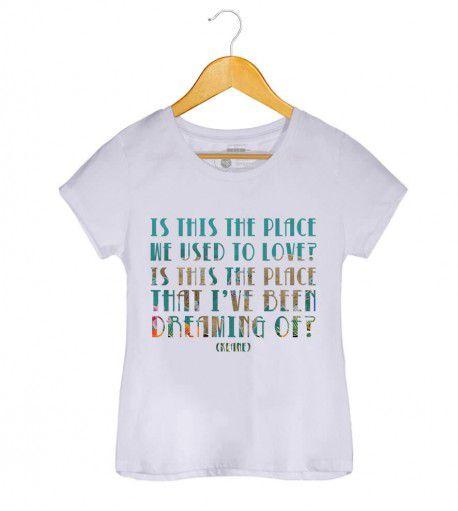 Camiseta - Somewhere Only We Know - Keane - Feminino