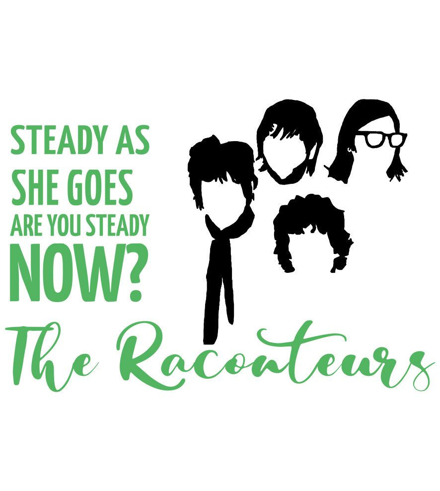 Camiseta Steady As She Goes - The Raconteurs - Masculino
