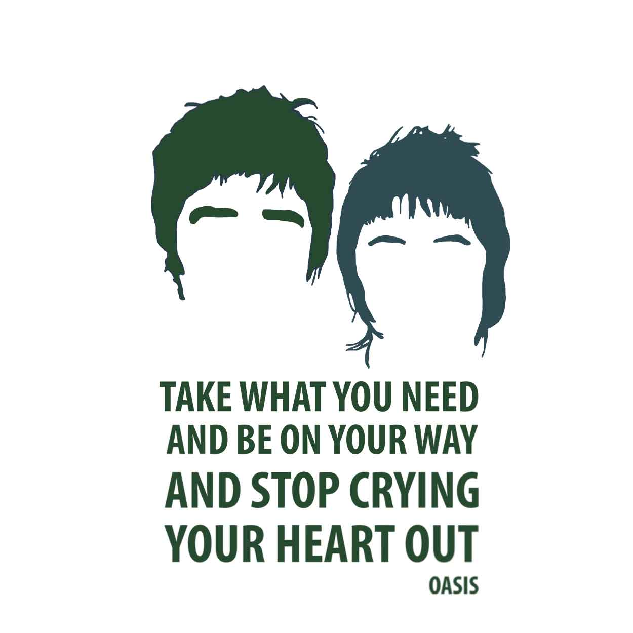 Camiseta - Stop Crying Your Heart Out - Oasis - Feminino