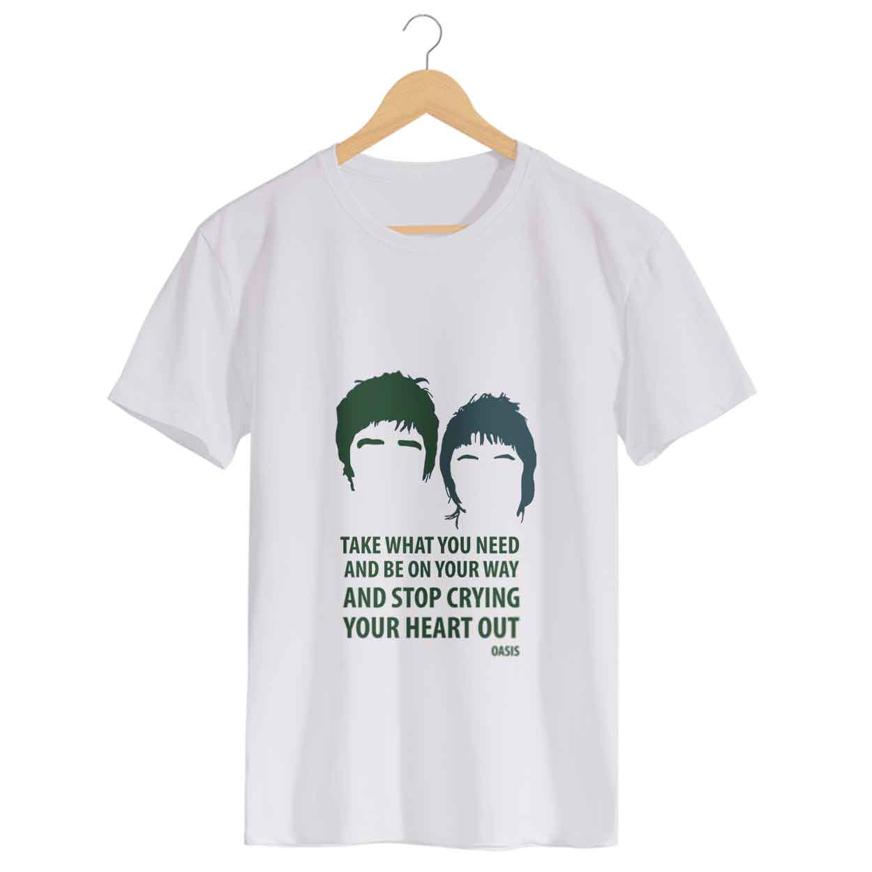 Camiseta - Stop Crying Your Heart Out - Oasis - Masculino