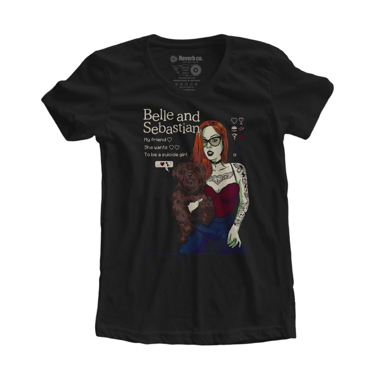 Camiseta Suicide Girl - Belle and Sebastian - Feminino