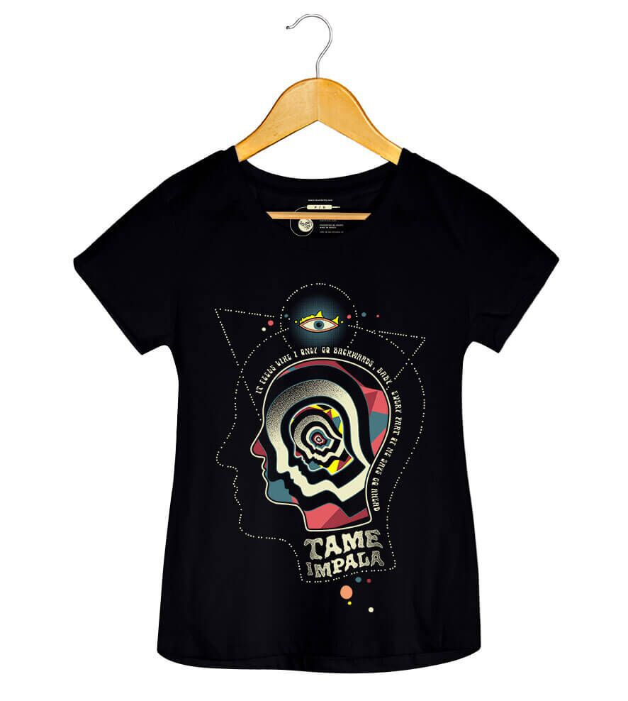 Camiseta - Backwards - Tame Impala - Feminino