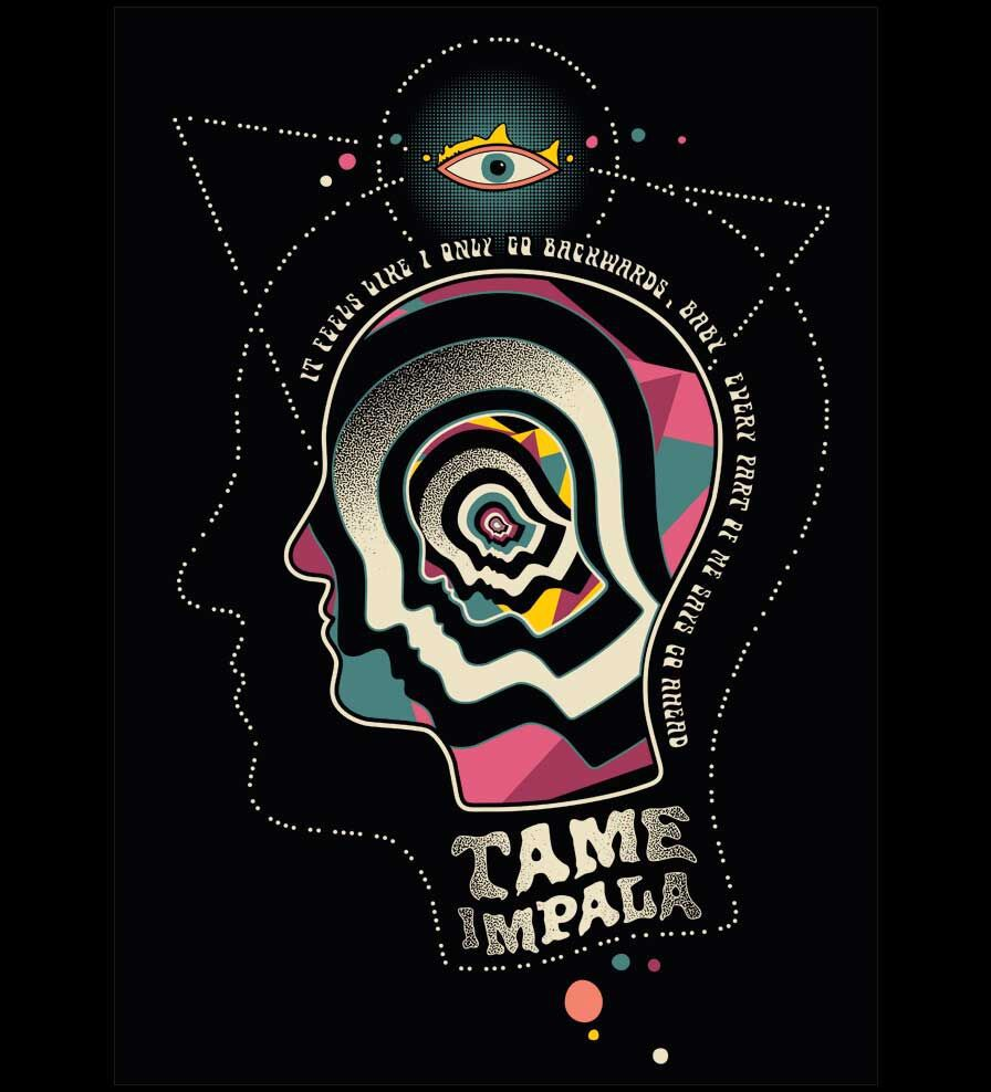 Camiseta - Backwards - Tame Impala - Masculino