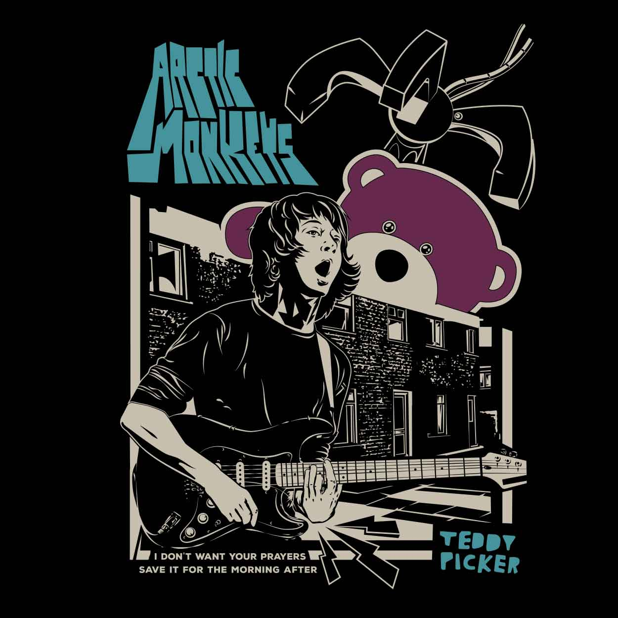 Camiseta Ted Picker - Arctic Monkeys - Infantil