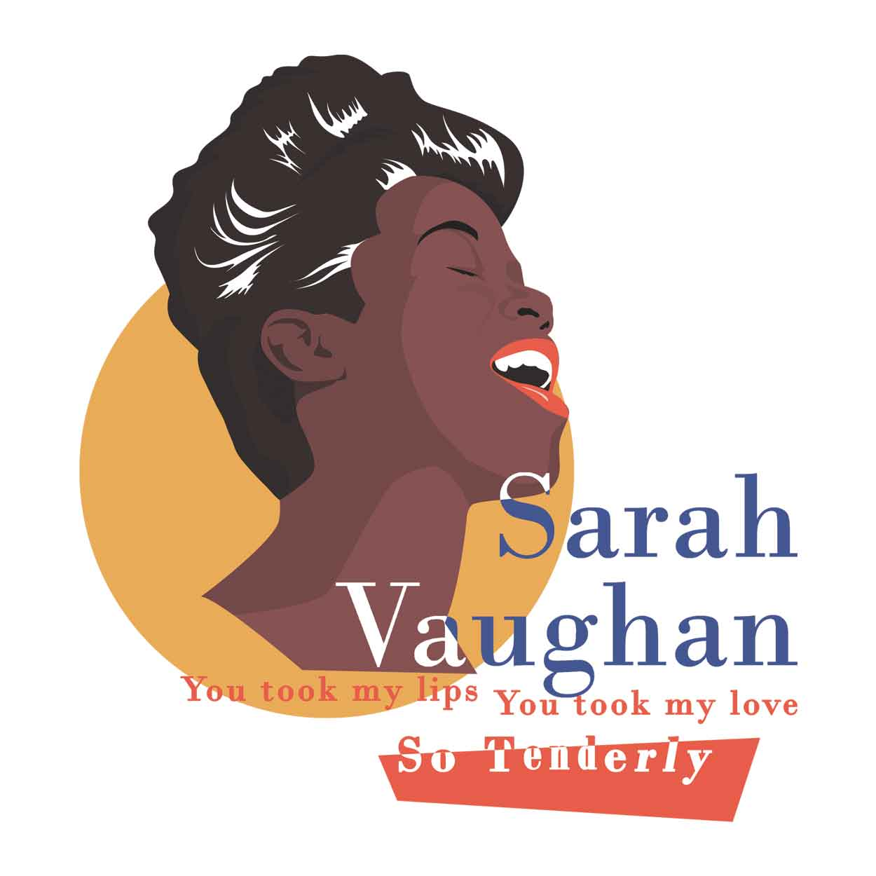 Camiseta -Tenderly - Sarah Vaughan - Masculino