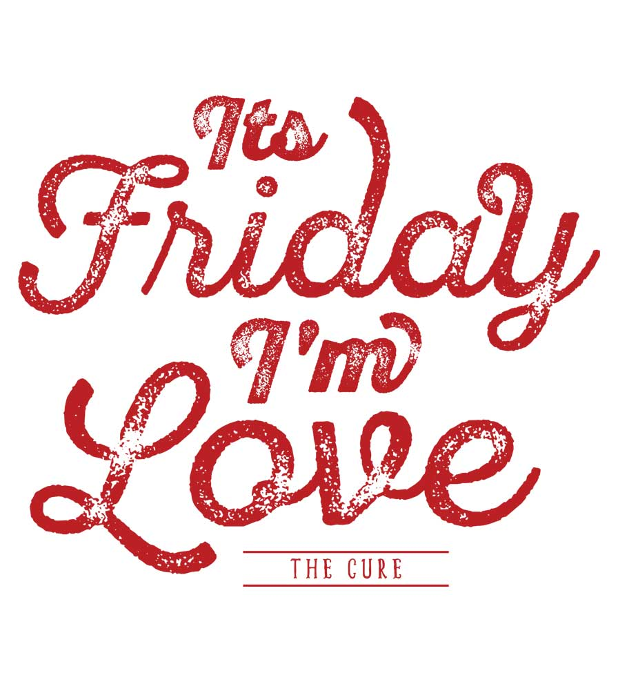 Camiseta - Its Friday Im In Love - The Cure - Feminino
