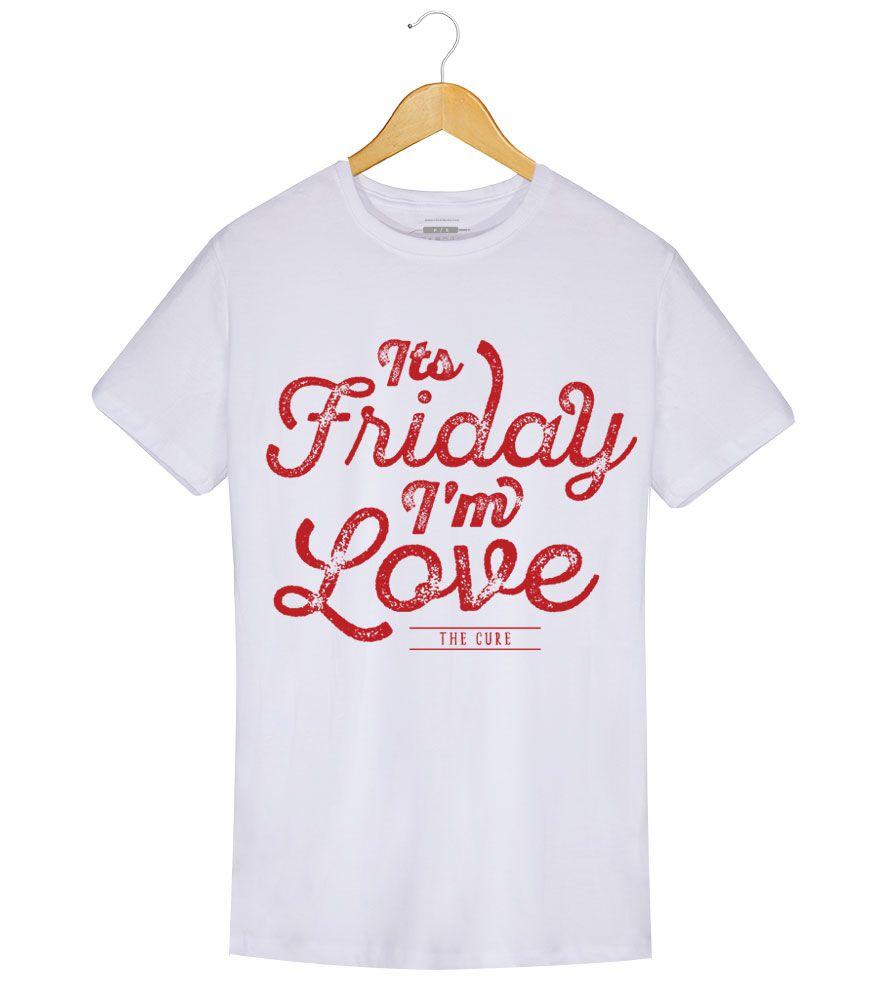 Camiseta - Its Friday Im In Love - The Cure - Masculino