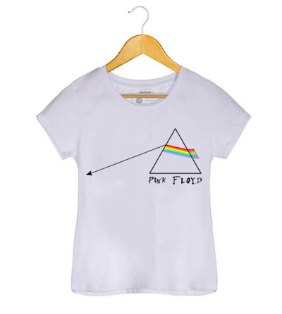 Camiseta - The Dark Side Of The Moon - Pink Floyd - Feminino