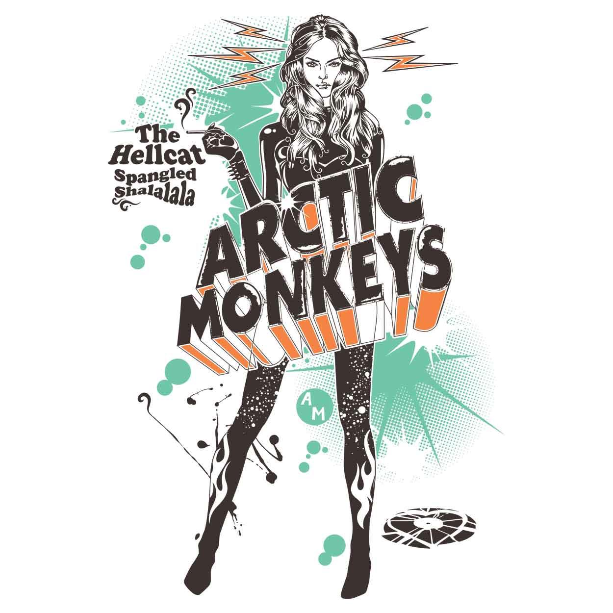 Camiseta The Hellcat Spangled  - Arctic Monkeys - Feminino