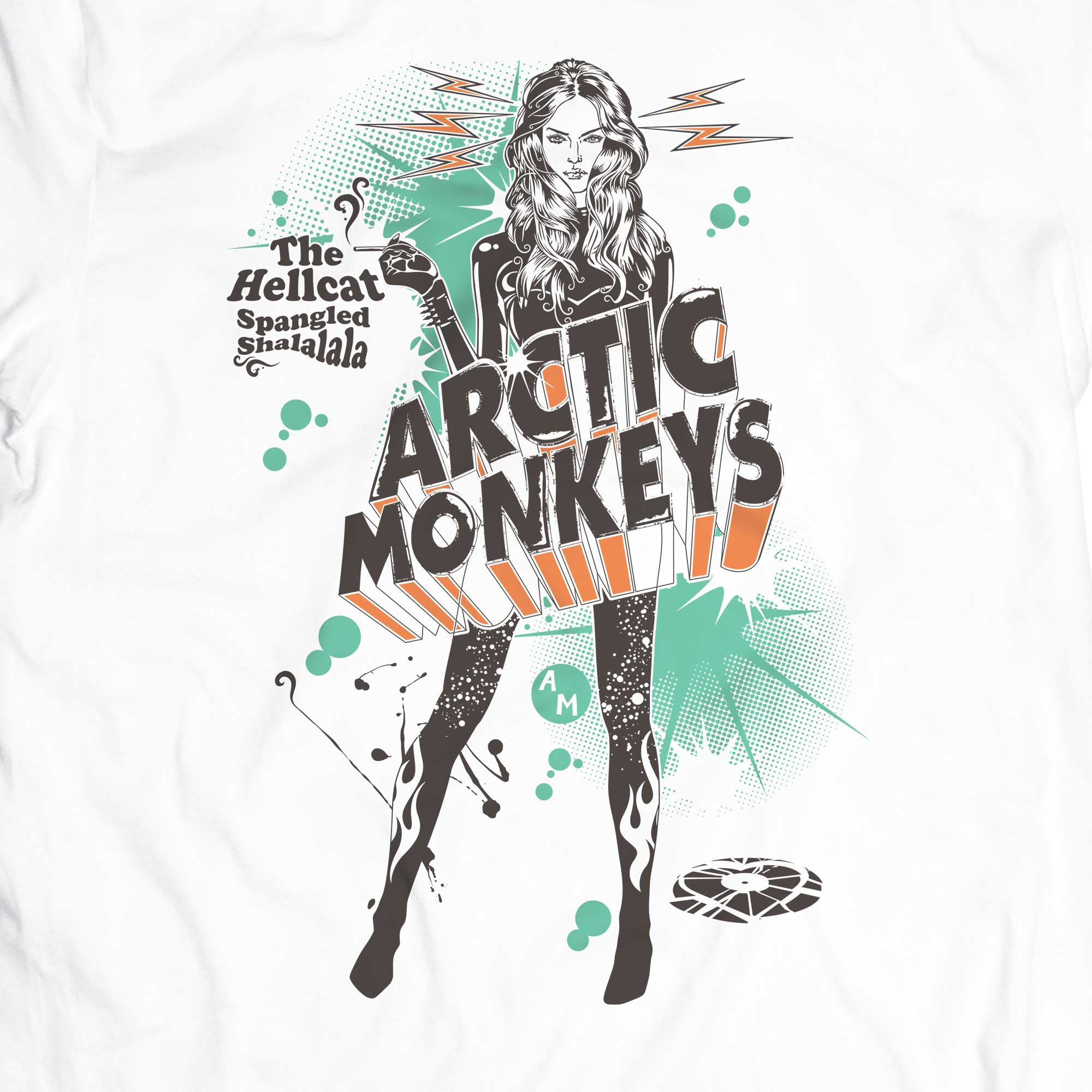Camiseta The Hellcat Spangled - Arctic Monkeys - Masculino
