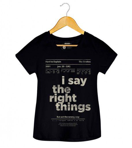 Camiseta - Hard to Explain -  The Strokes - Feminino