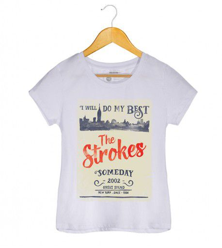 Camiseta - Someday - The Strokes -  Feminino