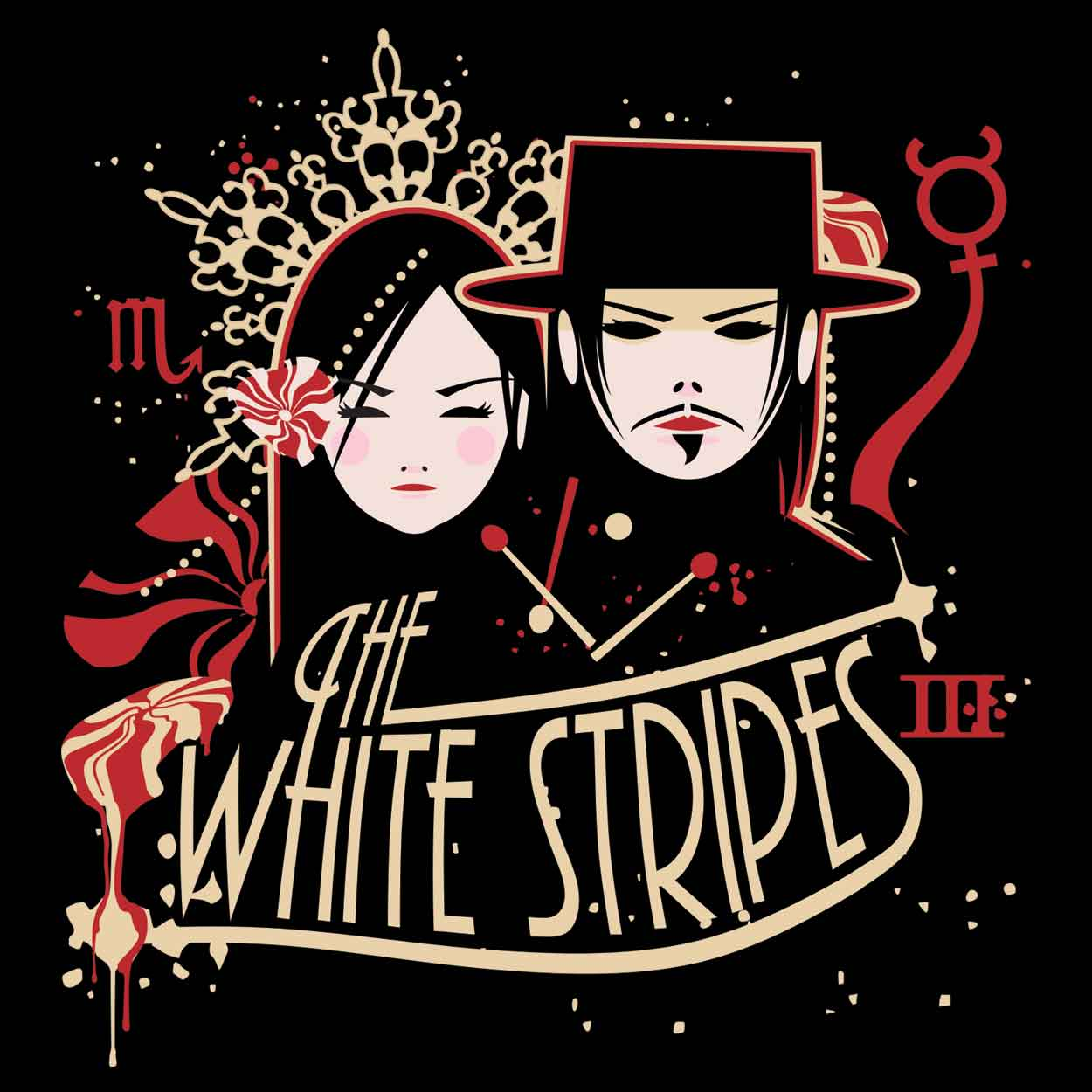 Camiseta - Get Behind Me Satan - The White Stripes - Feminino