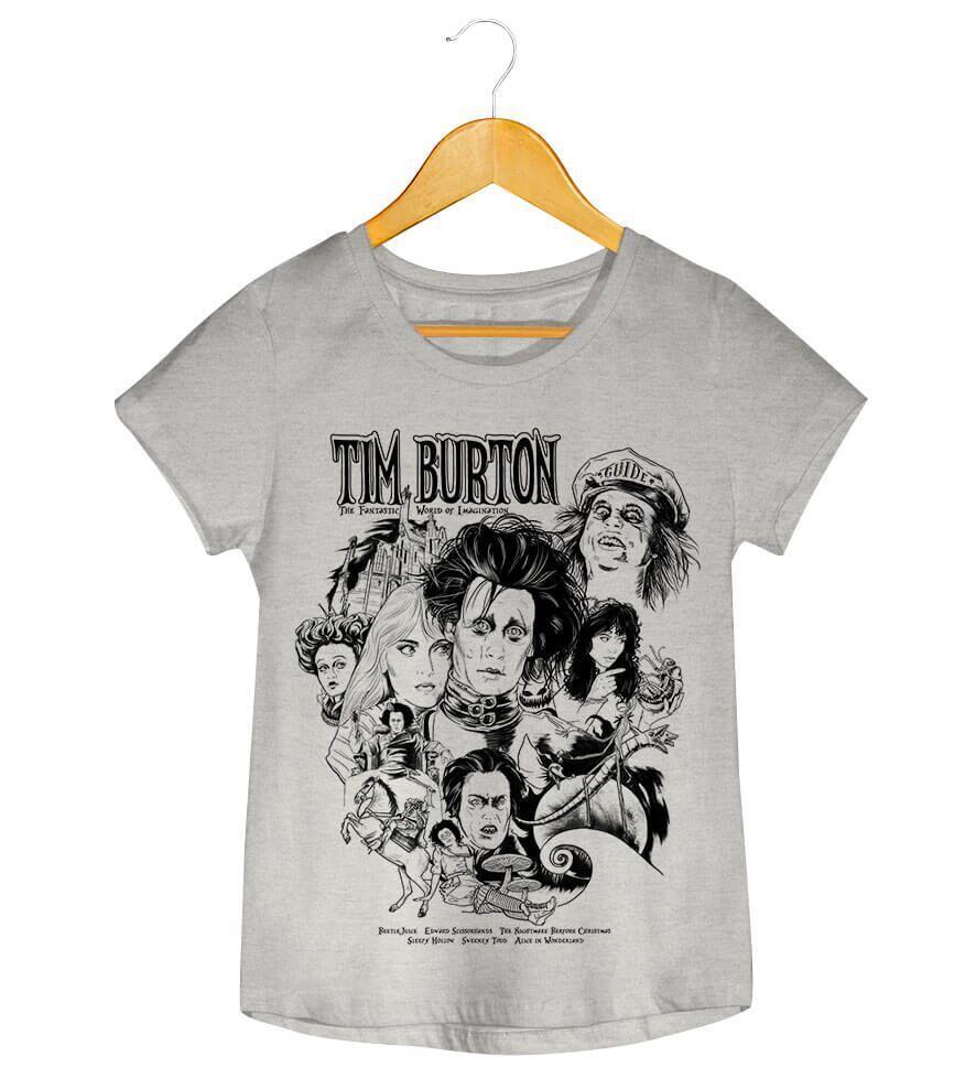 Camiseta - Tim Burton - Feminino