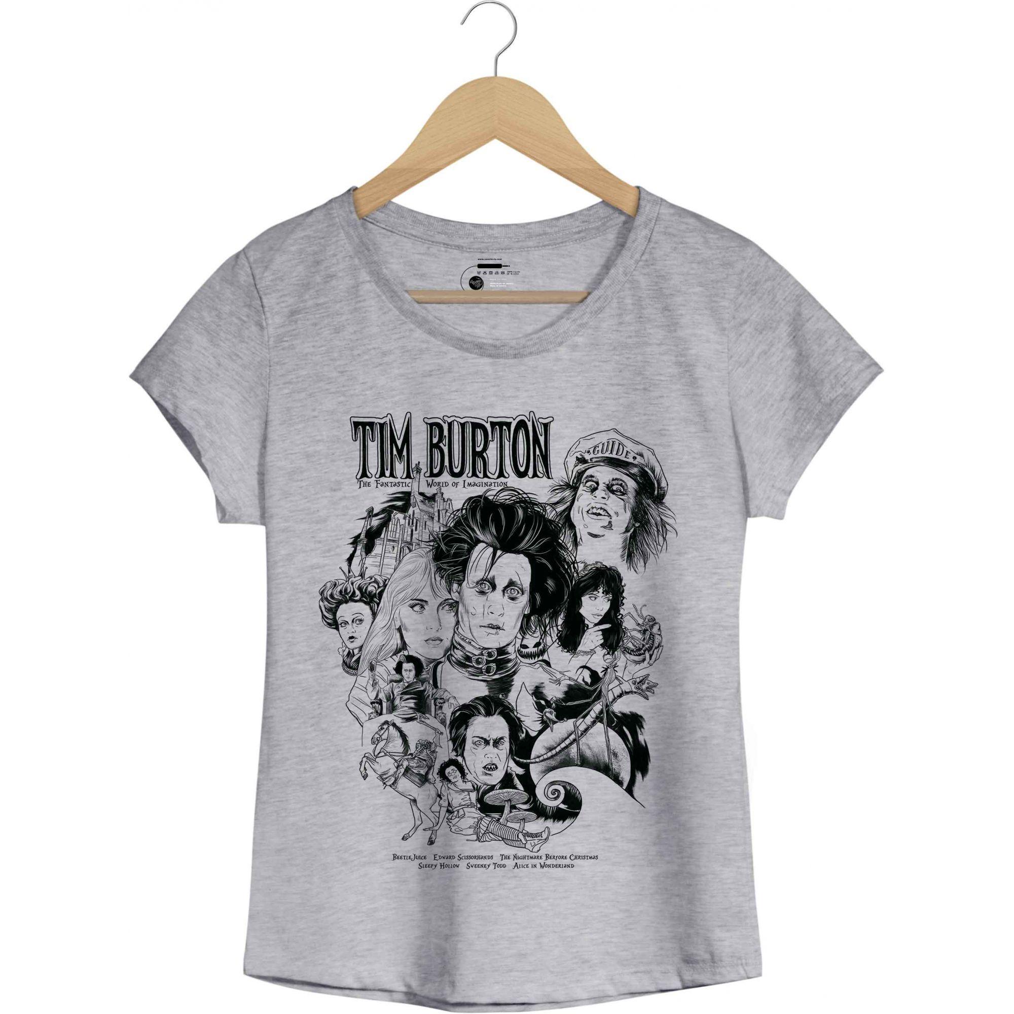 Camiseta Tim Burton - Feminino